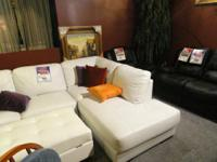 - Several colored throw cushions. - Smooth, pure white