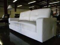 NEW IN THE BOX! GENUINE BONDED LEATHER SOFA! THIS SET