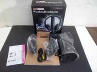 New Wireless Headphones w/Microphone Emitter & FM Radio