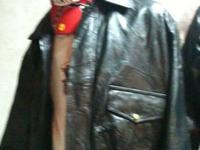 New men's leather jacket fully lined has retail tag of