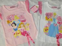 New with tags, Qty of 2, girls, Walt Disney Princess