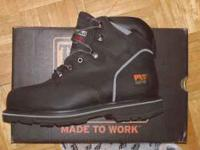 New pair of Timberland work boots never been worn.