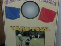 SELLING ONE NEW IN BOX, NEVER USED, YARD TOSS CORNHOLE
