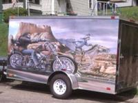 Brand. New 2014. Motorcycle Trailer with work bench ,