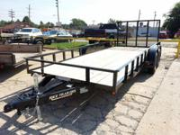 NEW 2014 82 X 18 UTILITY TRAILER, RAMP GATE (FOLDS BOTH