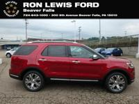 Ruby Red 2018 Ford Explorer Platinum AWD 6-Speed