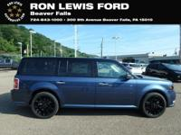 Blue Metallic 2018 Ford Flex SEL AWD 6-Speed Automatic
