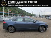 Blue Metallic 2018 Ford Fusion SE FWD 6-Speed Automatic