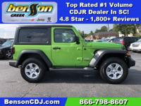 Mojito! Clearcoat 2018 Jeep Wrangler Sport S 4WD