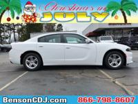 White 2019 Dodge Charger SXT RWD 8-Speed Automatic 3.6L