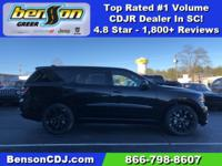 Black Clearcoat 2019 Dodge Durango SXT Plus RWD 8-Speed