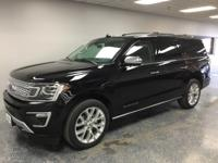 Black 2019 Ford Expedition Max Platinum 4WD 10-Speed