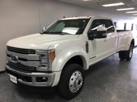 White 2019 Ford F-450SD Lariat DRW 4WD 6-Speed