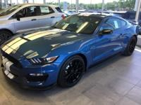 Blue 2019 Ford Mustang Shelby GT350 RWD 6-Speed Manual