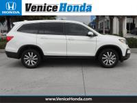 19/27 City/Highway MPG 2019 Honda Pilot  4-Wheel Disc
