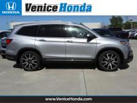 20/27 City/Highway MPG 2019 Honda Pilot  4-Wheel Disc