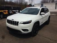 Pearl White 2019 Jeep Cherokee Altitude 4WD 9-Speed