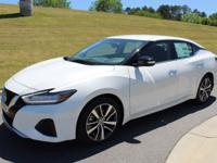 Pearl White 2019 Nissan Maxima 3.5 SV FWD CVT with