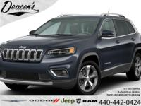 Blue 2020 Jeep Cherokee Limited 4WD 9-Speed 948TE