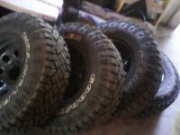 I have these tires and rims for sale. They were just