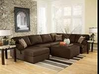 3 Piece Sectional available in Cocoa and Cafe Regular