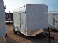 New 6x10 V Nose Cargo Trailer for sale with side door