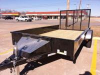 NEW 2014 76 X 12 STEALTH UTILITY TRAILER, RAMP GATE