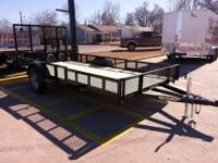 76 x 14 ATV Trailer, Rear and Side Load, POWDER