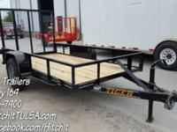 New 77 x 12' Utility Trailer w/ Rear Rampgate 3 x 2 x