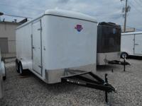 New 7 x 16 Enclosed Cargo trailer for sale, stock