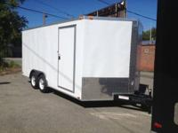 BRAND NEW 2014 8.5X16+ V NOSE ENCLOSED TRAILER CAR