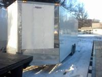 This is a brand new 8.5 X 20 enclosed freedom trailer.
