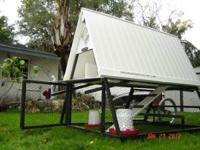 New lightweight aluminum framed & vinyl roof coop, easy