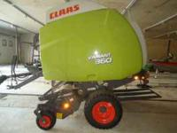 NEW claas 360 Variant round hay baler with hyd pickup,
