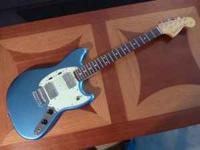 This is a mint Fender Mustang Pawn Shop Edition that