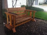 Local Custom made rustic patio furniture Cedar stained