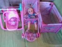 GREAT FOR EASTER NEW DISNEY PRINCESS DOLL CRIB,