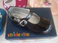 New Girls Stride Rite Black Dress Shoes size 7. Would