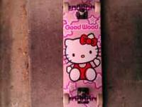 I have a brand new Good Wood skateboard. The wheels are