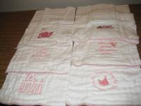 NEW HAND EMBROIDERIED BABY BIBS $3 EACH. HAVE 7 GIRLS