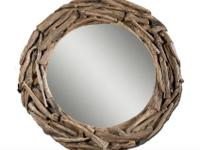 I am selling a brand new teak mirror by Uttermost.