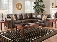 New (factory bagged) Brown Bonded Leather 2 Piece