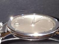 BRAND NEW GNTS MOVADO 40MM SILVER DIAL STS BRACELET..