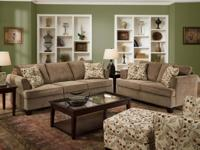 New Contemporary Ribbed Microfiber Sofa and Loveseat