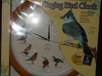NEW National Audubon Society Singing Bird Clock as seen