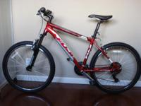 This is a Beautiful Red Mountain Bike was Purchased