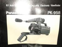 New Panasonic Color Video Camera PK-958 $60 money or