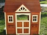 All Cedar Custom built kid's play house. Western Red