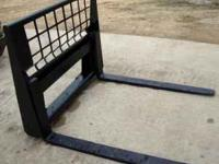 "NEW 4000 LB SKID STEER 48"" PALLET FORKS. SHIPPING"
