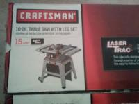 "New and still in initial box: Craftsman 10"" ""Laser"